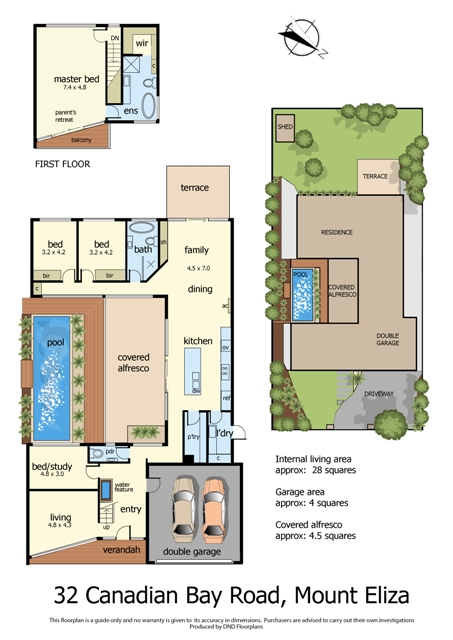 Floor Plan for Internet 32 Canadian Bay Road, Mount Eliza