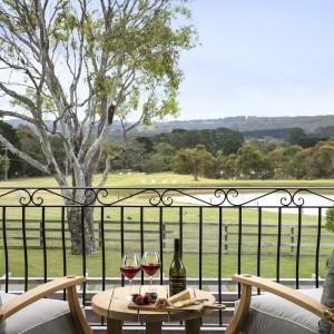 balcony overlooking countryside