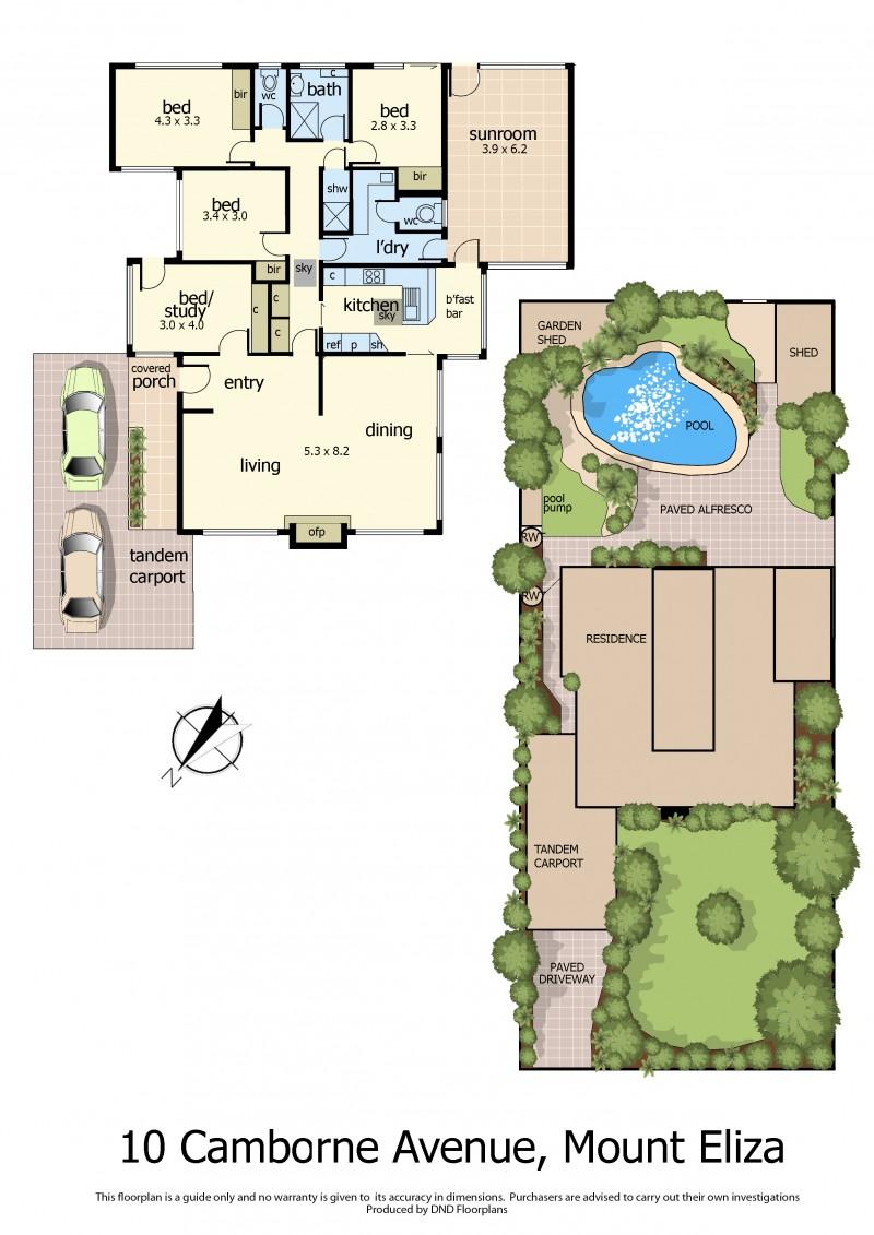 Floor Plan 10 Camborne ave  mt eliza