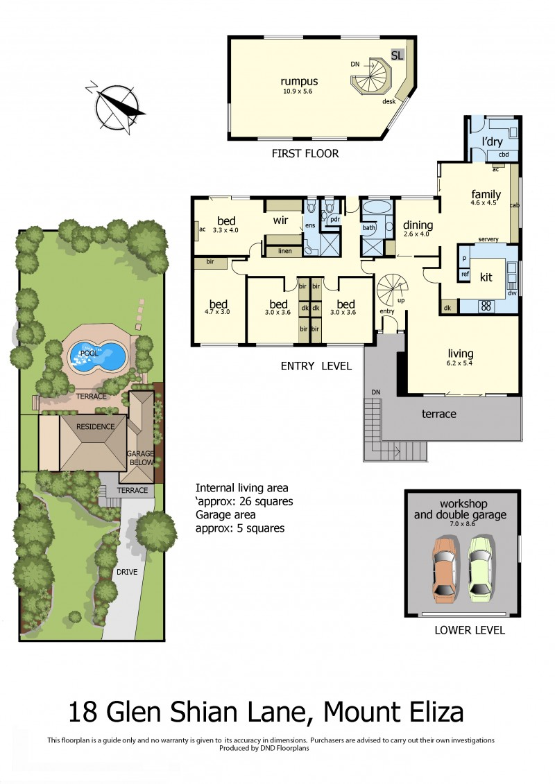 Floor Plan 18 Glen Shian Lane mt eliza