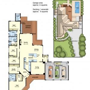Floor Plan 13Chetwyn court frankston south