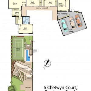 Floor Plan - 6 Chetwyn Court, Frankston South