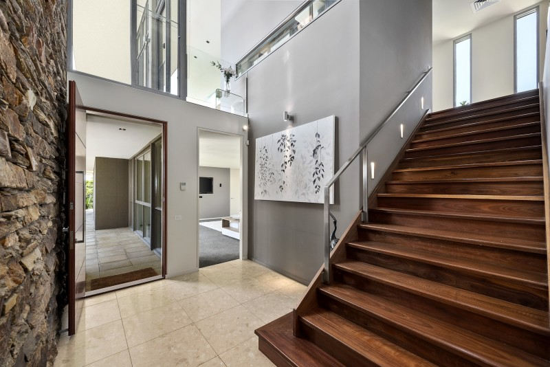 entryway and stairs