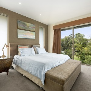 bedroom overlooking garden
