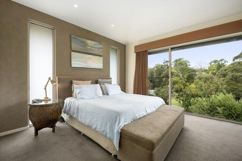 bedroom overlooking garden