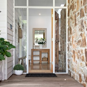 entryway with feature windows
