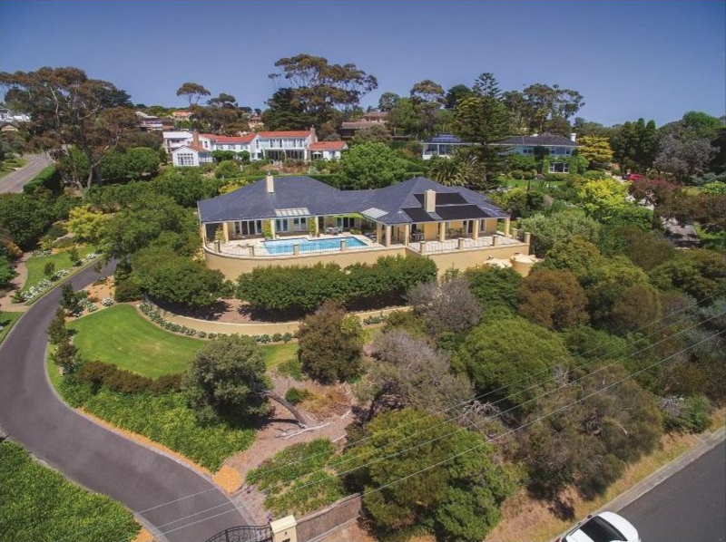 arial view of house