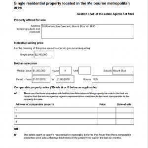 property statement of information